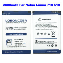 3f916a9c020 LOSONCOER 2800mAh BP-3L High quality battery For Nokia Lumia 710 510 505  603 610C 900 303 603 610 3030 battery