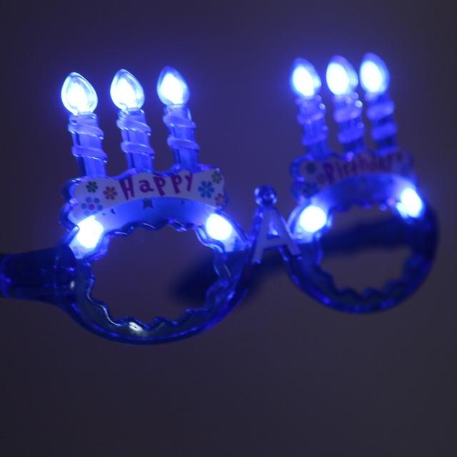 Gafas de Halloween Navidad LED Electrónico Luz de Colores Que Emite Juguete Divertido de la Fiesta de Navidad de Cumpleaños de Los Niños Juguetes