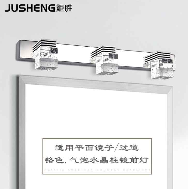 High-power LED faróis espelho do banheiro moderno e minimalista lâmpada quarto lâmpada de cristal de iluminação do banheiro