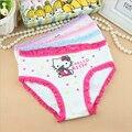 6 unids/lote 2-8y hot baby girls underwear niños bragas underpant escritos lindos niños calzoncillos de algodón de la muchacha al por mayor de alta calidad