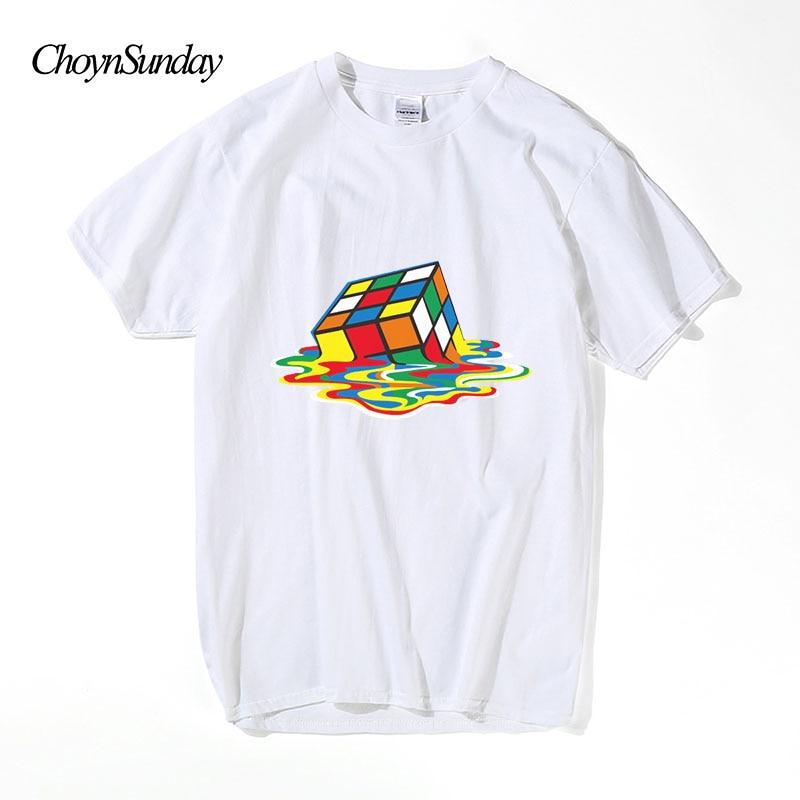 2018 choysunday t-shirt الرجال مضحك القطن قصير - ملابس رجالية