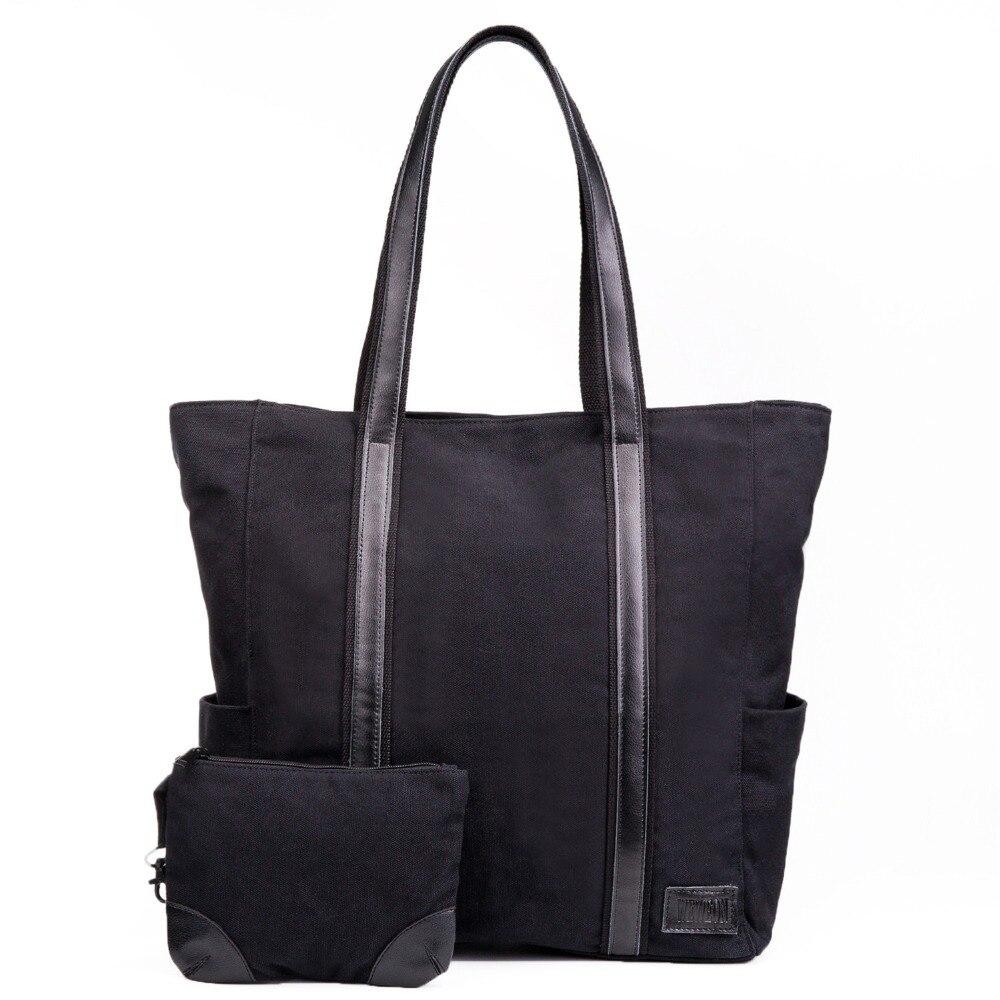 ФОТО WEWEON Canvas Woman Bags 2016 Bag Handbag Fashion Handbags Laptop Tote Bags for Work Messenger Bag Designer Handbag for Girl