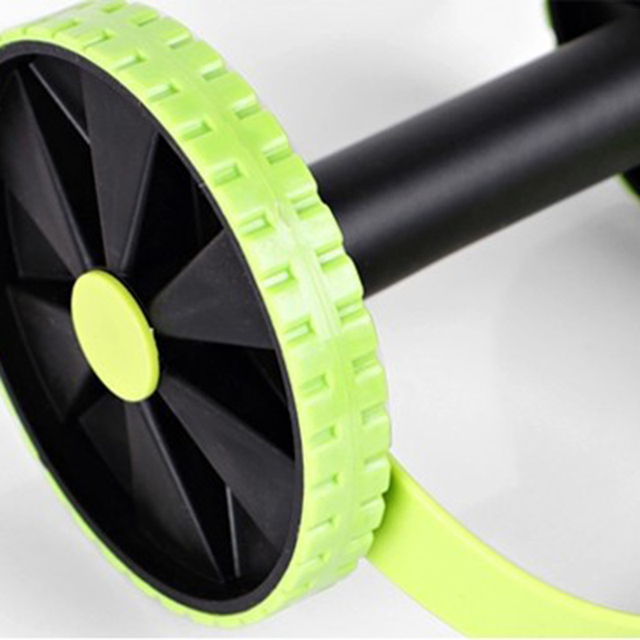 Abdominal Waist Slimming Trainer Exerciser Roller Core Double AB Wheel Fitness Equipment 5