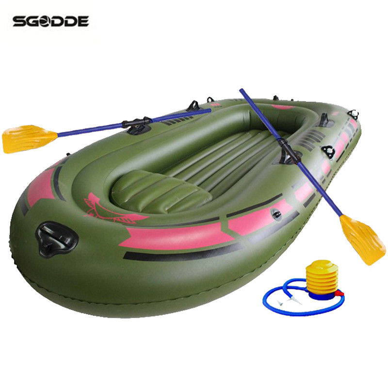 New 1 Set 3 Person Portable Inflatable Boat High Strength PVC Rubber Fishing Boat 240x137cm with Paddles Pump Patching Kit цены онлайн