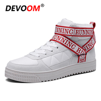 Fashion Characters Tape Woman Boots Autumn Leather Cotton Sneakers Women Valentine Shoes 2018 Winter Flats Unisex Big Size 36 44