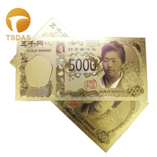 10pcs/Lot Best Gifts for Color Japan Gold Banknote 5000 Yen Fake Banknotes Home Decorations