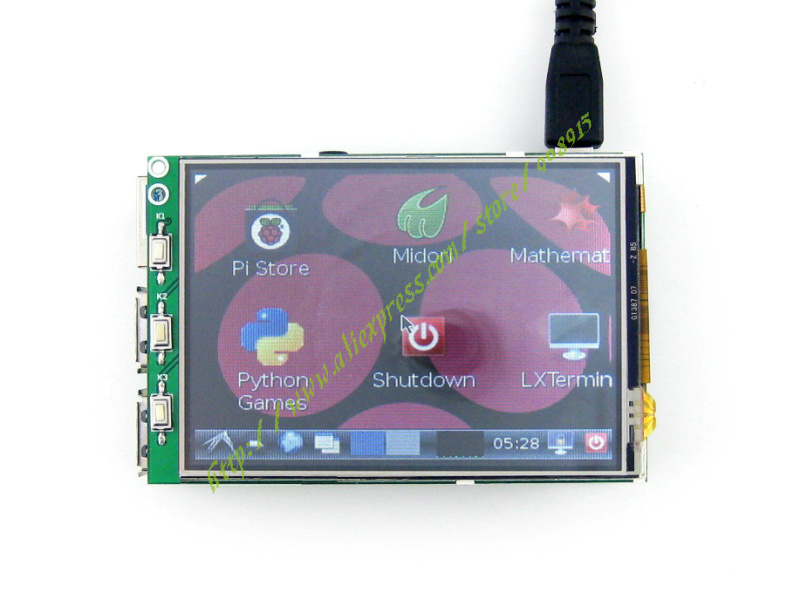 Raspberry Pi 3 Touch Screen 3.2inch TFT LCD With XPT2046 Controller 320*240 Pixel For Raspberry Pi B / B+ =3.2inch RPi LCD