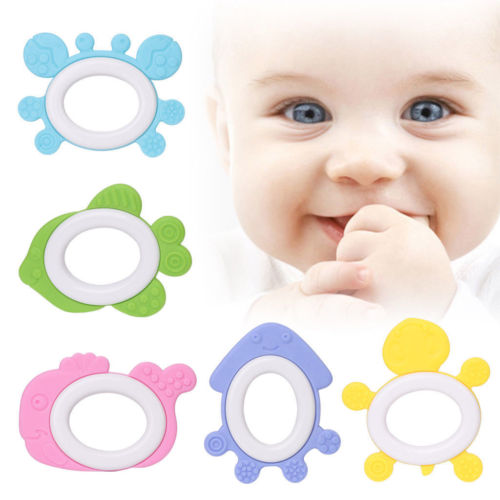 Shape Pacifier Pendant Chew Toy Silicone Soother Teething Necklace Baby Teether