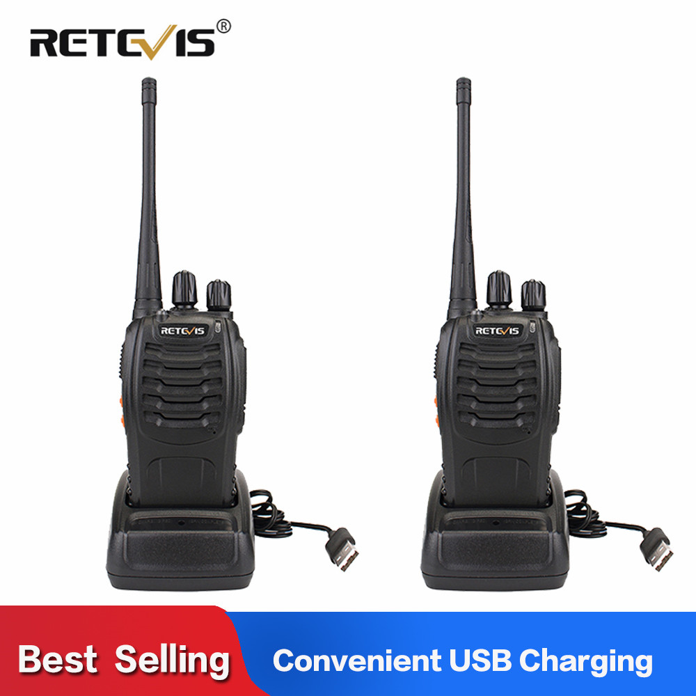 2pcs Retevis H777 Phone Walkie Talkie Radio 3W UHF Radio Station 400-470MHz Handheld Transceiver 2 Way Radio PortableUSB Charger(China)