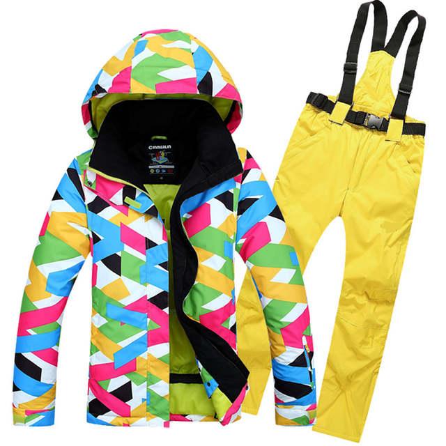 Online Shop Good Quality Women's <b>Ski Jacket</b> + Pant <b>Ski Suit</b> For ...