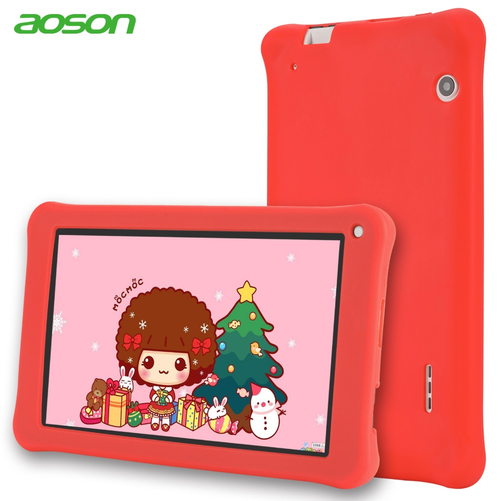 все цены на Kids Pad Aoson M753 7 inch Tablet 16GB+1GB Android 7.1 Kids Learning Tablet PC with Silicone Case Software Parental Control