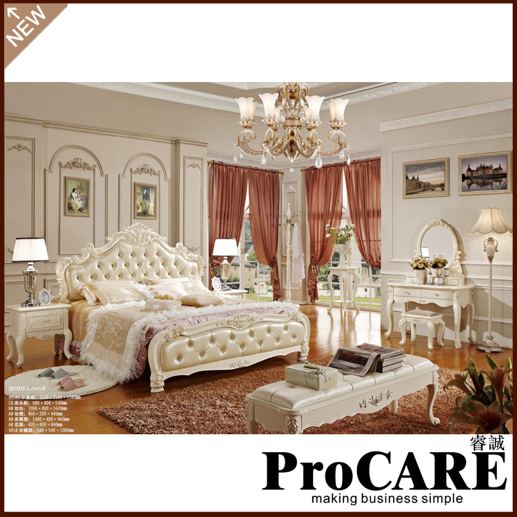 French style doble bed two sizes of corium bed for choice bedroom furniture - Antique Bedroom Furniture Styles Promotion-Shop For Promotional