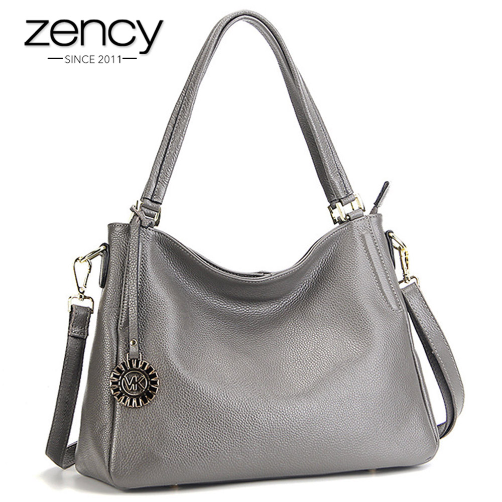 Zency 2019 New Arrival Women Shoulder Bag Lychee Pattern 100 Genuine Leather European and American Style