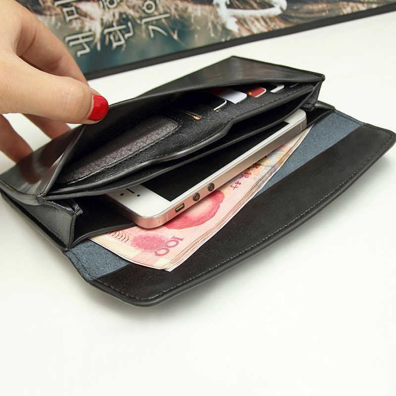 NIGEDU брендовый женский кошелек из натуральной кожи, длинный тонкий кошелек, Воловья кожа, несколько держателей для карт, клатч, модный Стандартный кошелек
