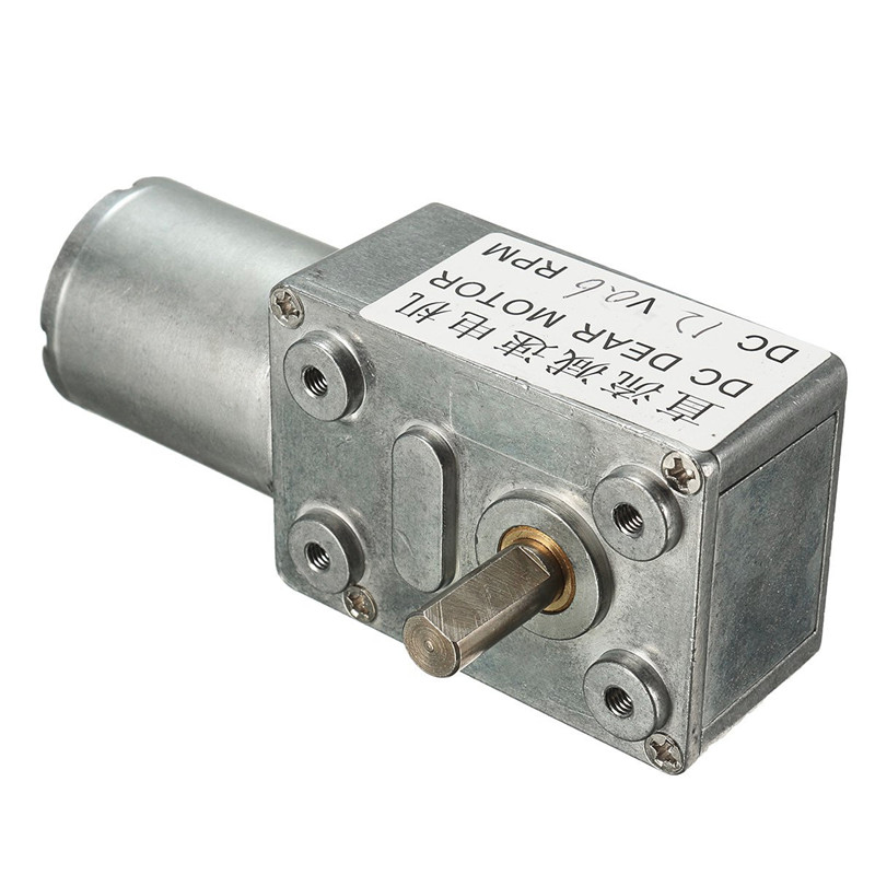 12V DC Geared Motor 0.6RPM High Torque Low Speed Turbo Worm 370 Right Angle US New