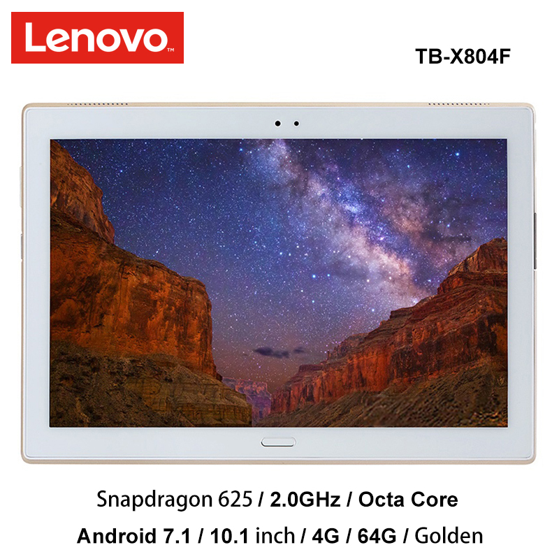 lenovo XiaoXin 10 inch snapdragon 625 4G Ram 64G Rom 2.0Ghz octa core Android 7.1 Gold 7000mAh tablet pc wifi tb-X804F