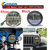 2PCS 7INCH 80W Led Headlight With White Daytime Running Lights Amber Turn Signal Lights For Jeep
