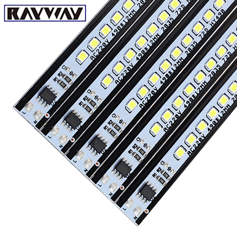 kitchen lighting Led Bar Light AC220V rigid strip light SMD2835 Profilo Alluminio LED Rigid Strip For cabinet lighting