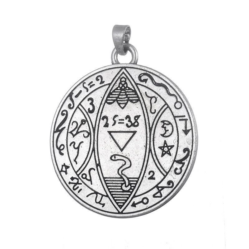 minimal 50 pieces metal antique silver color moon and stars ancient greek letter charms pendant