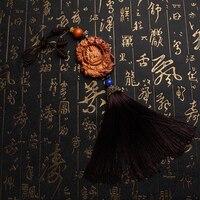 Zhendian schat Auto Sleutelhanger Ping Fu groen perzik wo Maitreya Boeddha levert auto-interieurs