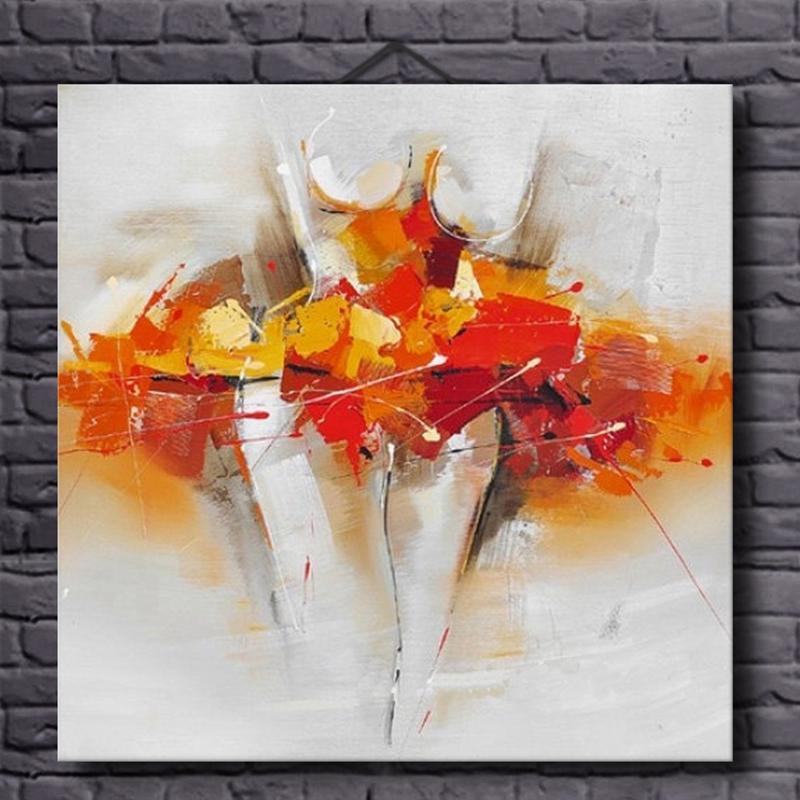 Cartel de lienzo de pintura al óleo femenina abstracta moderna desnuda e impresión mural art