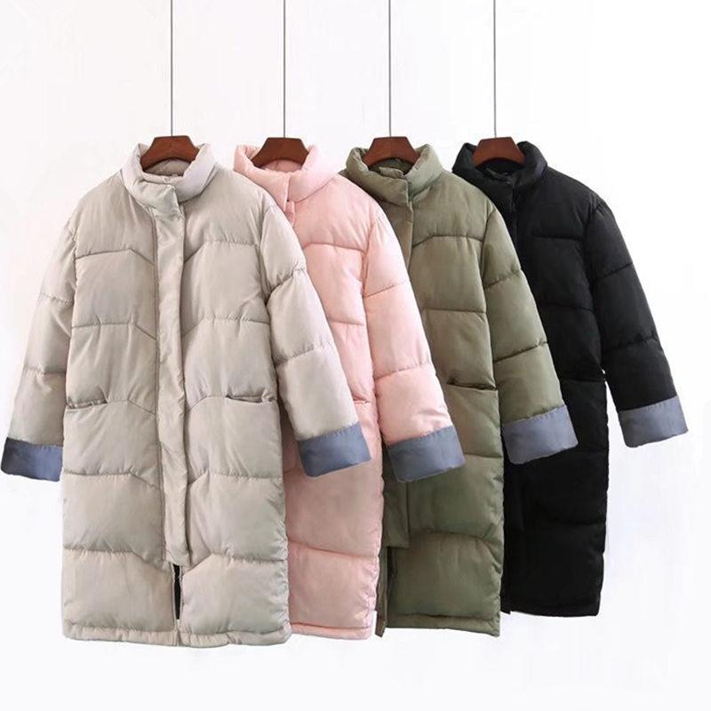 Winter Jacket Women Coat   Parka   Casual Long Sleeve Warm Wadded Jacket Coat Plus Size Casaco Feminino Ladies Tops Jacket Coat Q553