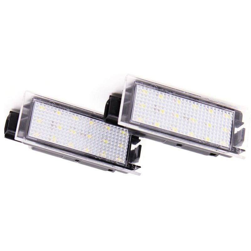 2Pcs Car LED Number License Plate Light For Renault Megane 2 Clio Laguna 2 Megane 3 Twingo Master Vel Satis