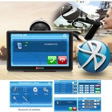 Junsun Brand 7 inch HD Car GPS Navigation FM Bluetooth AVIN Map + Free Upgrade Navitel Europe Sat nav Truck gps navigators automobile