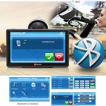"7"" HD FM Bluetooth Car GPS Navigator - D100 3"