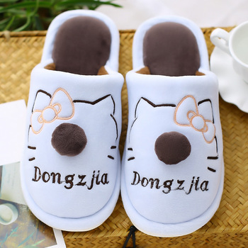 New High Quality Women Slippers Lovely soft Flat Indoor Shoes Lovers Winter Plush Warm Home Slippers woman Slippers