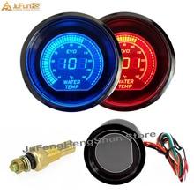 52 мм Автомобильный датчик температуры воды 12 в автоматический Синий Красный светодиодный светильник линза для тонирования цифровой измеритель температуры Цельсия инструмент с датчиком