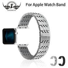 Для apple watch band 38 мм 42 ремешок из нержавеющей стали 7