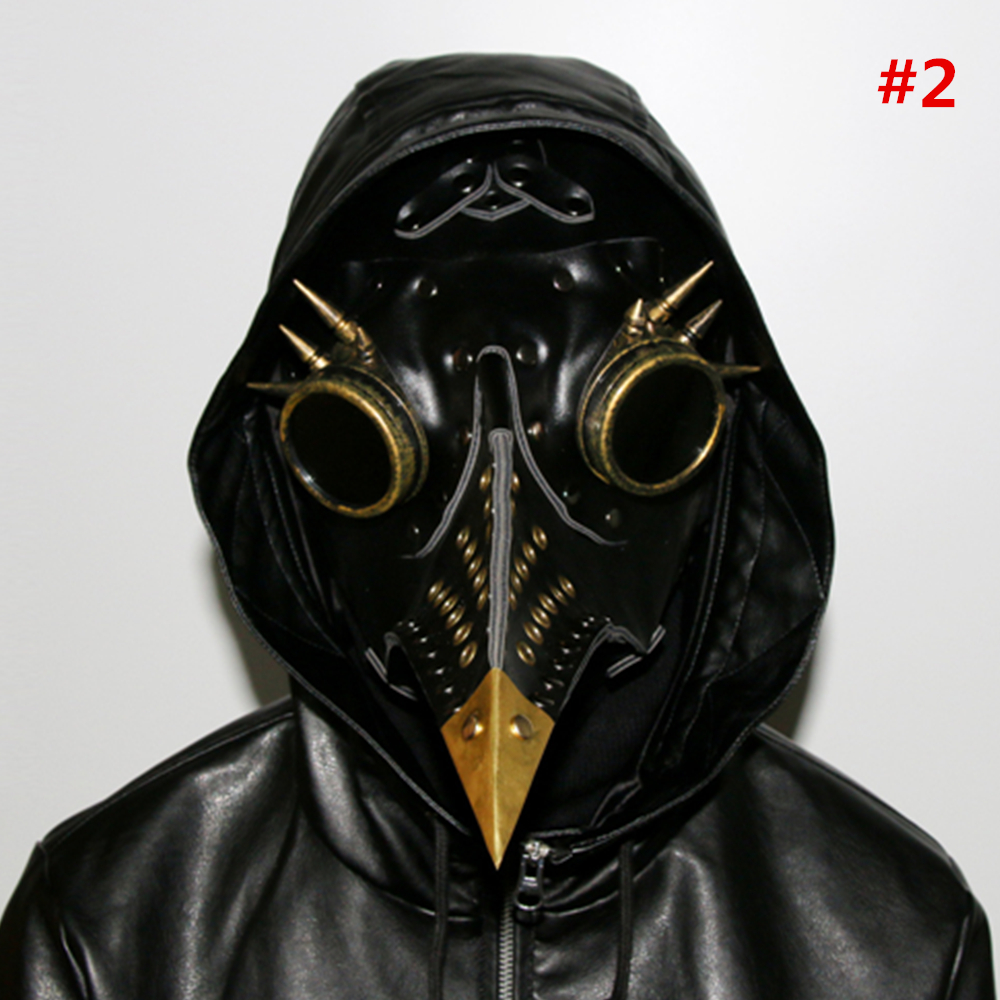 New Arrival PU Leather Steampunk Steam Punk Gothic Bird Beak Mask Plague Doctor Cosplay Halloween Masks Party Supplies Adult Toy