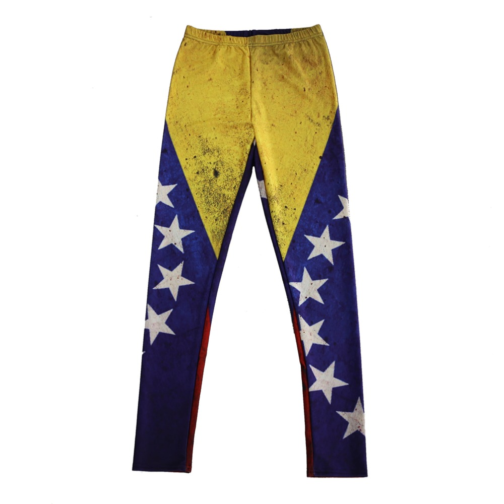 Factory Direct Sale Wholesale Sexy Elastic Pants  Digital Printing The Flag Of Venezuela Pattern Women Leggings 7 SizesClothing