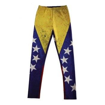 Usine vente directe en gros Sexy élastique pantalon impression numérique le drapeau du Venezuela modèle femmes Leggings 7 sizesvêtements