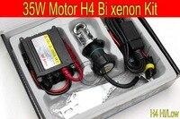 Free Shipping 1 Set Top Quality 35W H4 Hi Low Bi Xenon Motorcycle HID Conversion Kit