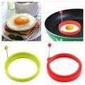Новые Силиконовые жареное яйцо блинчик кольцо омлет Fried Egg Круглый Shaper форма для яичницы для Пособия по кулинарии завтрак - фото