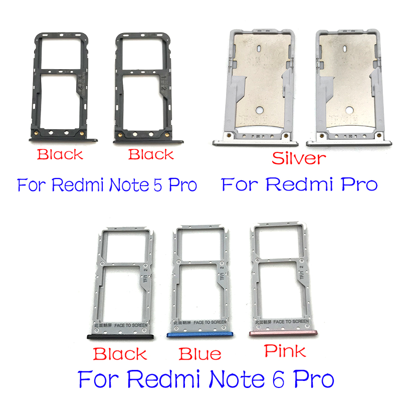SIM Card Tray Slot Holder For Xiaomi Redmi Note 5A 5 7 6 Pro Replacement Parts