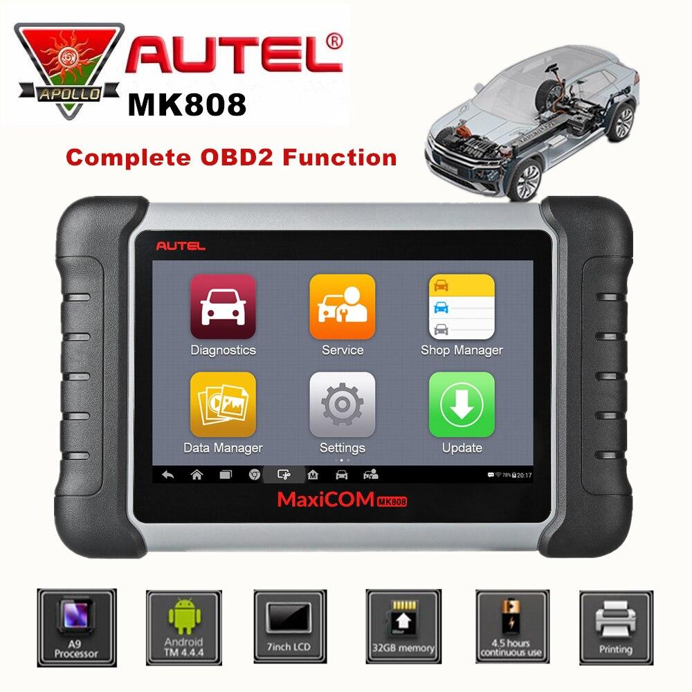 Autel MaxiCom MK808 Auto OBD2 Diagnostic Tool Car Scanner Engine Analysis Tool All System Oil Reset EPB DPF TPMS Key Programmer
