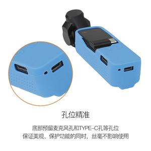 Image 5 - Handheld cardan câmera caso capa Protetora de Silicone com Alça de Pulso para dji osmo Bolso acessórios da câmera