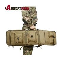 120 cm Caza Militar de Doble Cubierta de la Caja Bolsa Tactical Airsoft Rifle Pistola Revista Bolsa Mochila Hombro de Pesca De Almacenamiento
