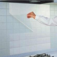 Oil-Film Wallpaper Kitchen Self-Adhesive Transparent Waterproof And Stove Ceramic-Tile
