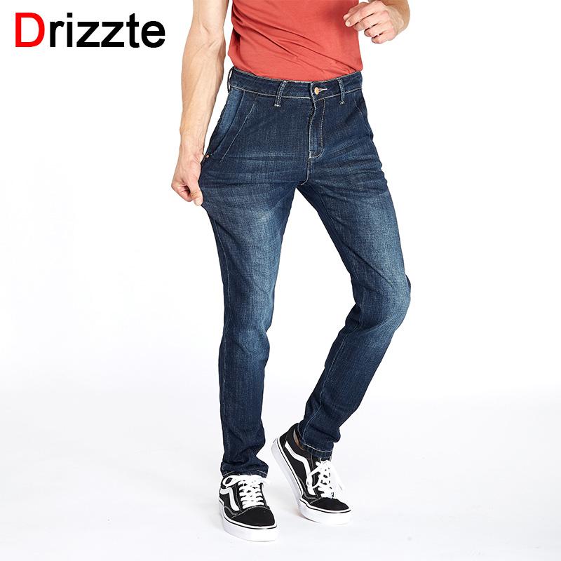 Jean A La Mode #15: Drizzte Blackblue Hommes Jeans Stretch Denim Grande Poche Arrière  Conception À La Mode Pantalon Pantalon Taille