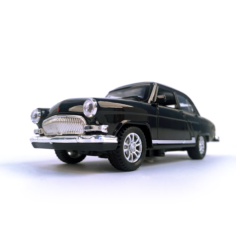 Diecast carro volga GAZ-21 1:32 escala clássicos vintage liga modelo de carro veículo brinquedo collectible puxar para trás carro com som e luz