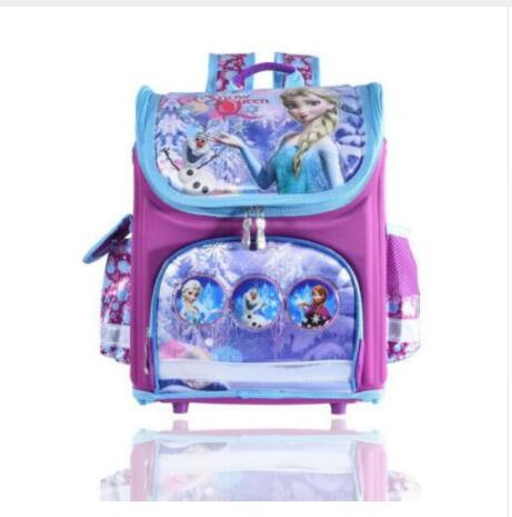 Image 5 - New Girls Cartoon Snow Queen Backpack School Bag Orthopedic Children Schoolbag Anna Elsa Backpack Mochila Infantil-in School Bags from Luggage & Bags