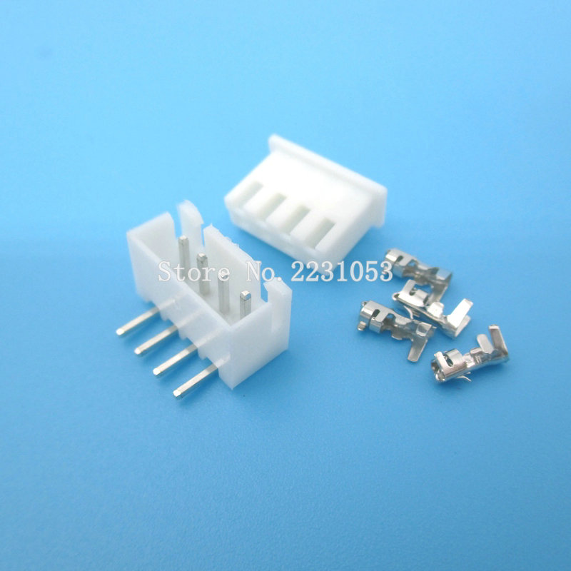 240pcs XH 2.54mm 2 3 4pin Right Angle Pitch Terminal Housing Header Connector