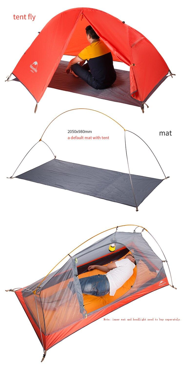 t para 1 pessoa barraca de acampamento NH18A095-D