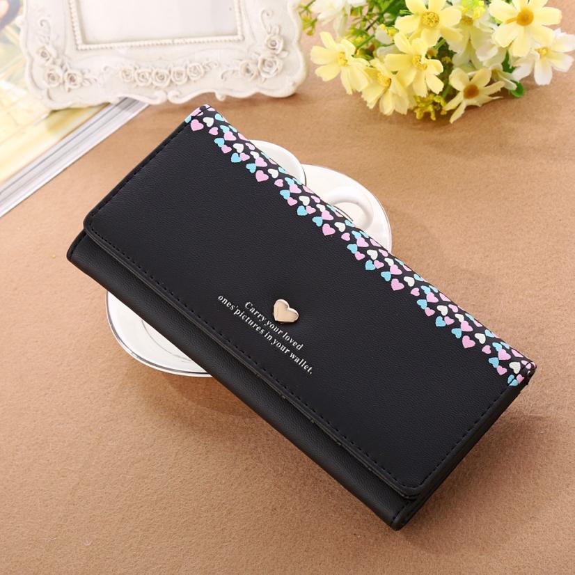 Carteras Mujer 2017 Women's Purse New Women Love Heart Pattern Coin Purse Long Wallet Card Holders Handbag Portefeuille Femme