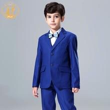 blue new arrival three piece  boys tuexdeo  boys suit  for flower boy wedding