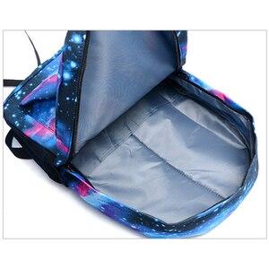 Image 3 - Светящийся рюкзак с логотипом Месси для мужчин и девочек, дорожная сумка для мальчиков и девочек в стиле ночи, школьный ранец для подростков